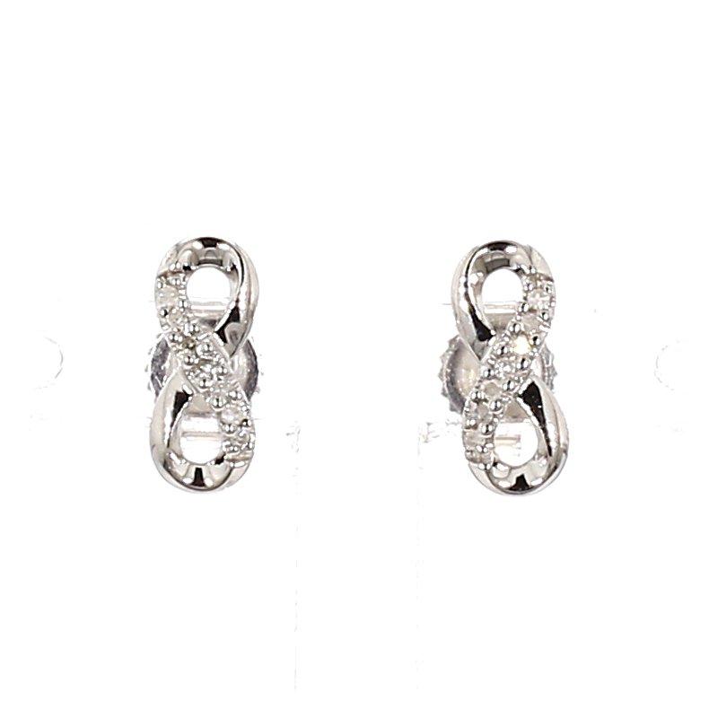 Diamond Infinity Stud Earrings