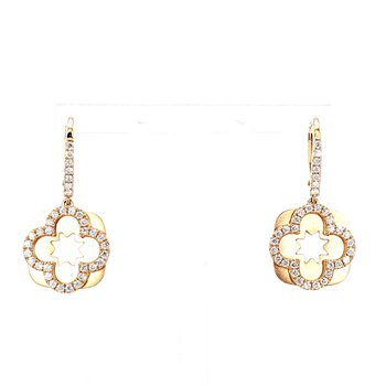 1/2ct Rose Gold Drop Earrings