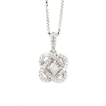 1/10ct Cross Over Infinity Diamond Pendant