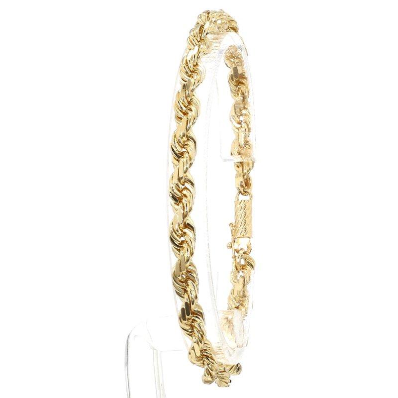 Estate 14kt 5.5mm Wide Men's Rope Bracelet