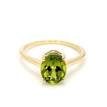 2 3/4ct Peridot Solitaire Ring