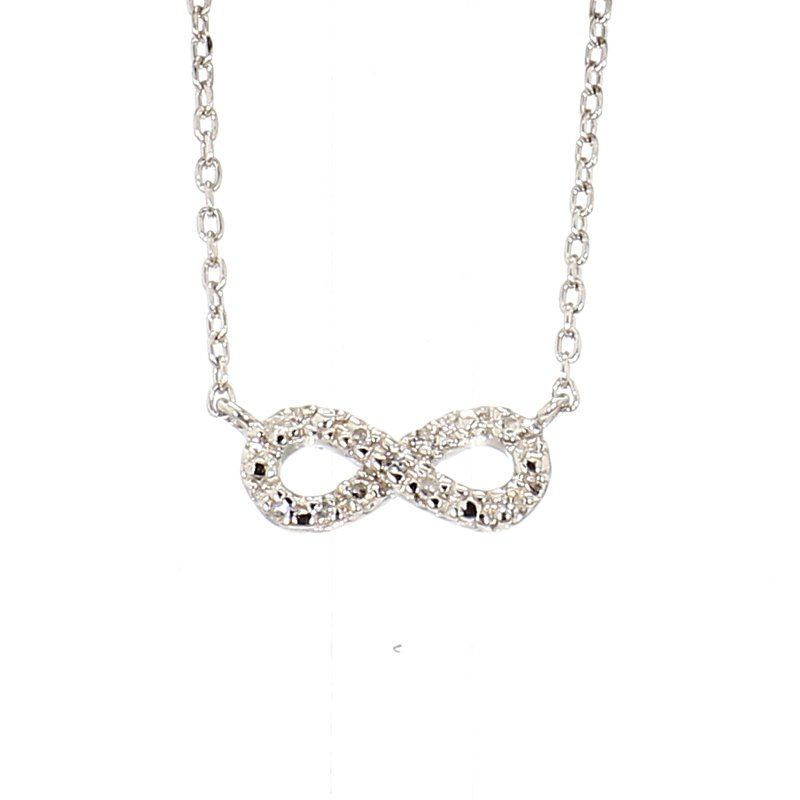 .04ct Diamond Sterling Silver Infinity Necklace