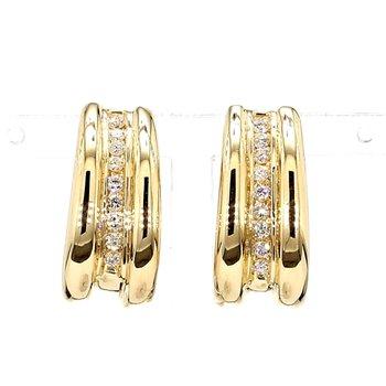 1/2ct Diamond J Hoop Earrings