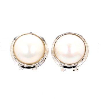 14KW Mabe 13MM Pearl Stud Earrings