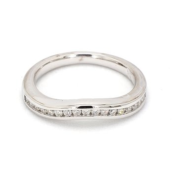 1/3ct Curved Diamond Band