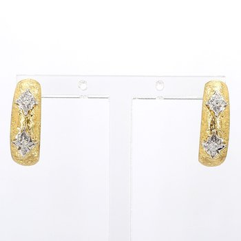18Kt Diamond Estate Earrings