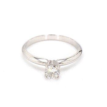 1/2ct. Round Diamond Solitaire Engagement Ring