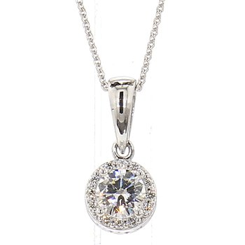 1/4ct Diamond Halo Pendant