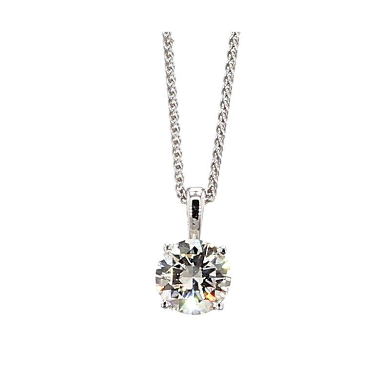 2/3ct Diamond Solitaire Necklace
