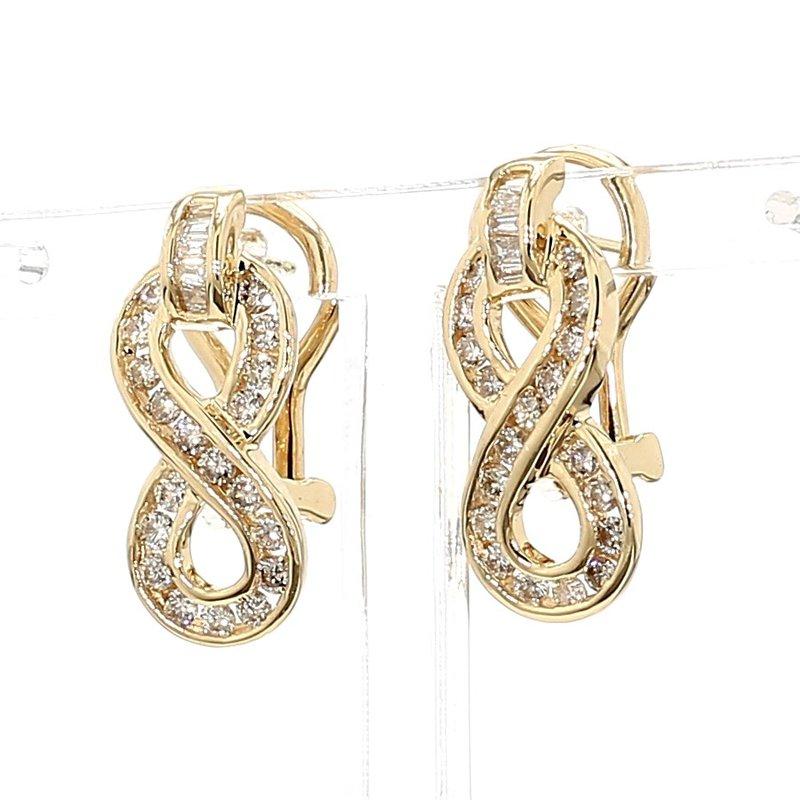 1ct Infinity Style Diamond Earrings