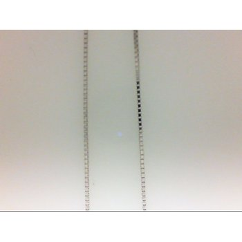 14 Karat White Gold Box Chain
