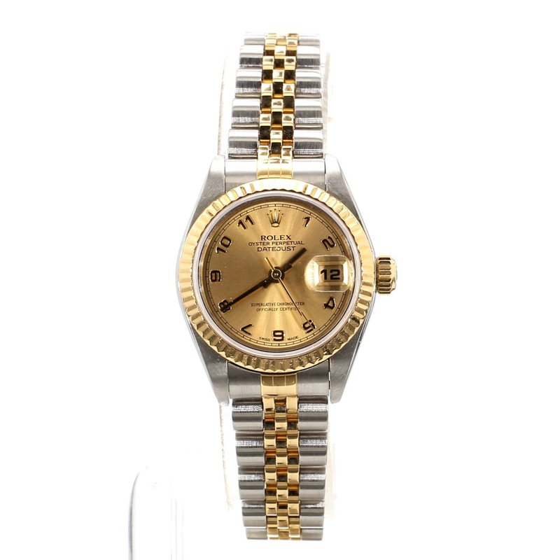 18K & Stainless Rolex Oyster Perpetual Datejust - Ladies Small Sized