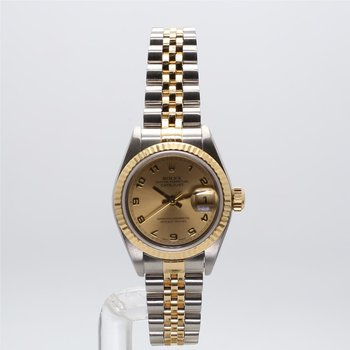 18K & Stainless Rolex Oyster Perpetual Datejust - Small Sized