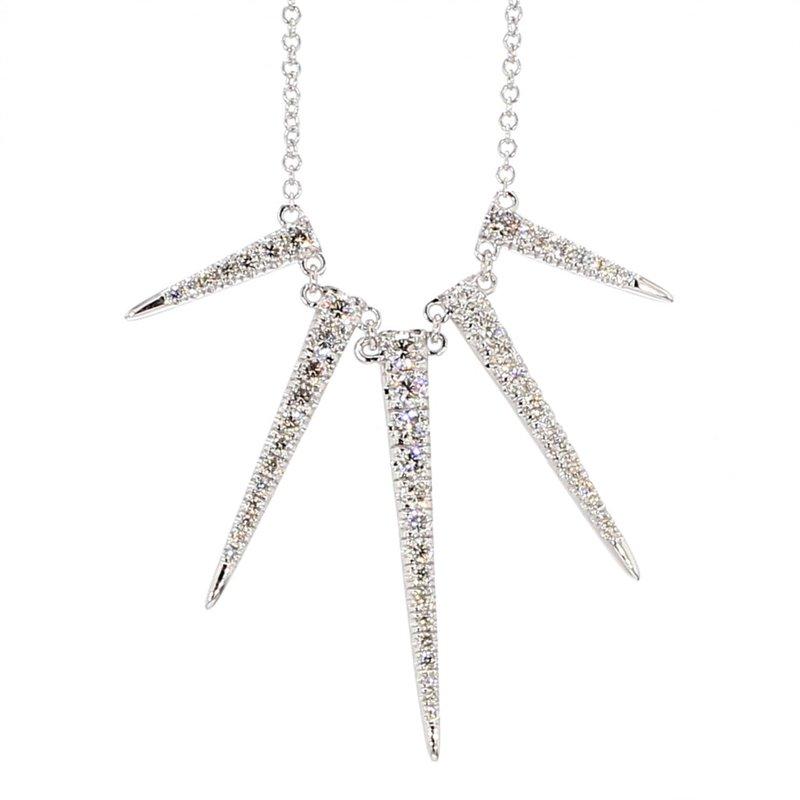 1.00ct Sunburst Diamond Necklace