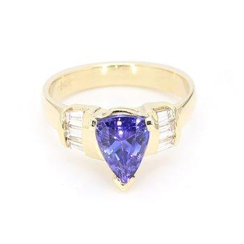 Tanzanite And Diamond Ring