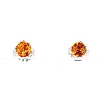 1/2ct Citrine Stud Earrings