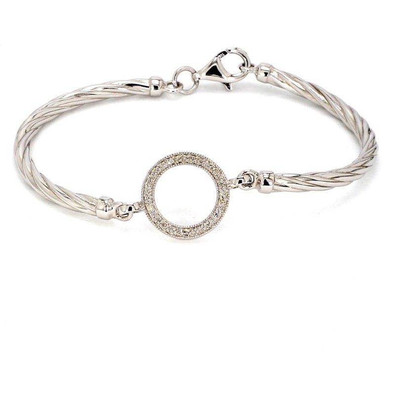 1/10ct Diamond Halo Bracelet