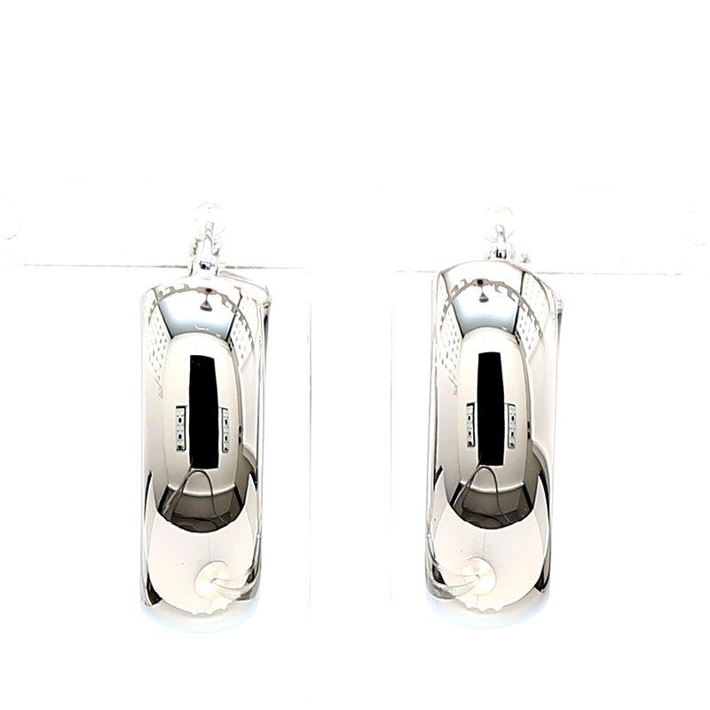 Silver Wide Hoop Earrings