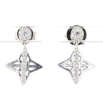 1/4ct. Vintage Inspired Uniqe Earrings