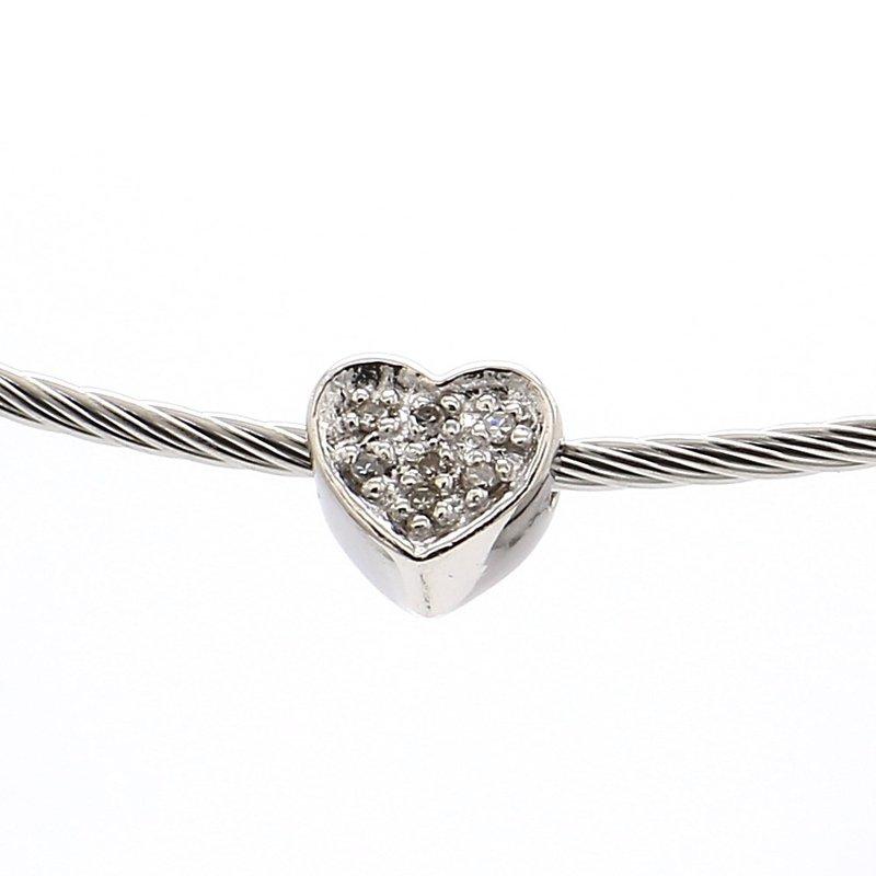 .03ct Diamond Heart Collar Necklace