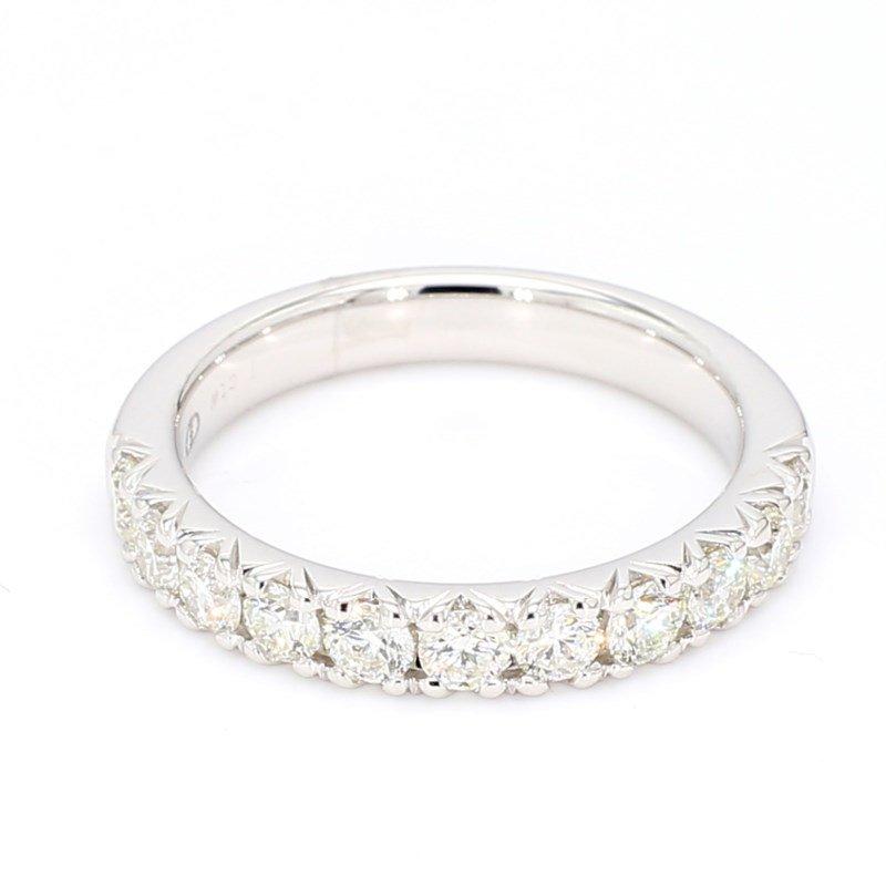 1.00 Carat Diamond 14 Karat White Gold Wedding Or Anniversary Ring