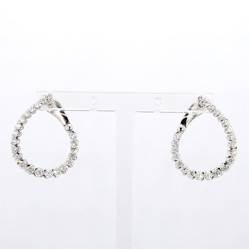 1ct Twisted Diamond Hoop Earrings