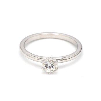 1/3ct Diamond Petite Solitaire Engagement Ring