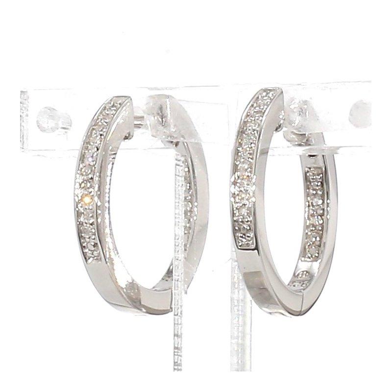 .07ct Small Huggie Diamond Hoop Earrings