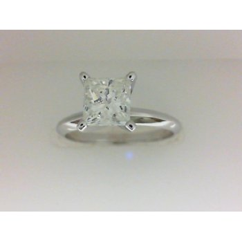 1.03 Carat Princess Cut Solitaire Engagement Ring