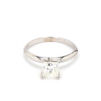 1.03 Carat Princess Cut Solitaire Engagement Ring