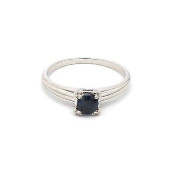 1/2ct Salt & Pepper Vintage Sapphire Ring