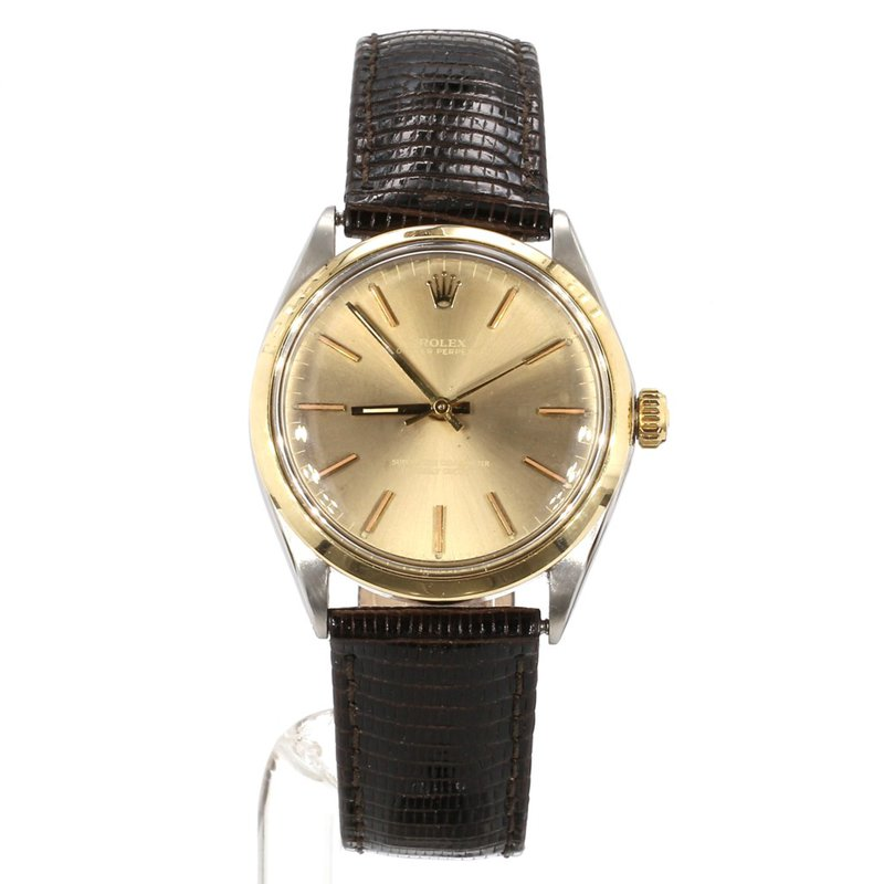 18K & Steel Oyster Perpetual Unisex Smooth Bezel - Mid Sized