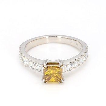 1 3/4 ct Canary Yellow Diamond Ring