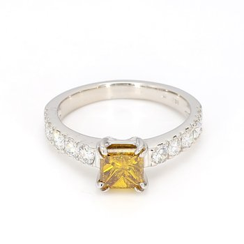 1.67 Carat Colored Diamond Engagement Ring