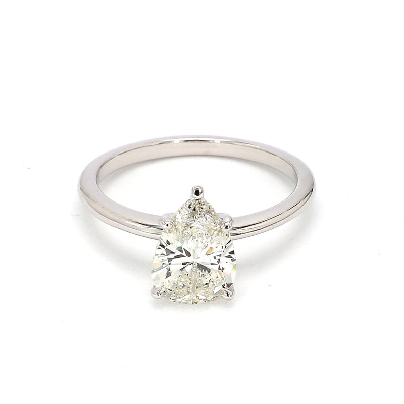 1 3/4ct Solitaire Pear Shape Diamond Engagement Ring