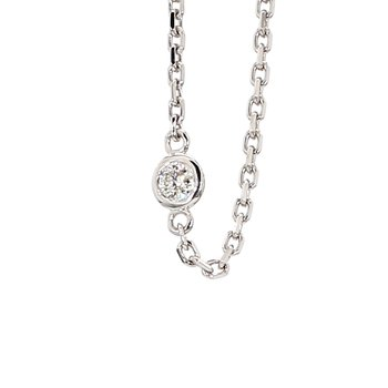 .62ct Diamond Station 14 Karat White Gold Necklace 18""