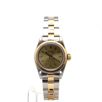 18K & Stainless Oyster Perpetual No Date - Ladies Small Sized
