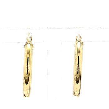 14 Karat Yellow Gold Round Hoop Earrings 20mmx2.5mm