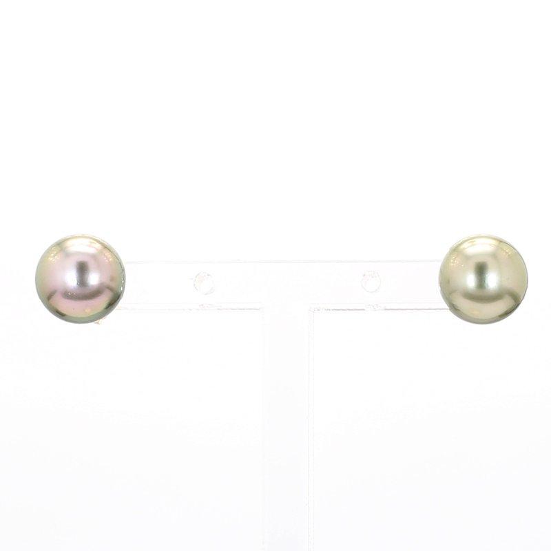 8-9MM Gray Tahitian Pearl Earrings