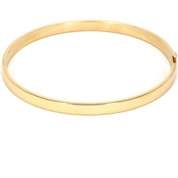 14KT Yellow Gold Estate 5mm Wide Bangle Stacking Bracelet