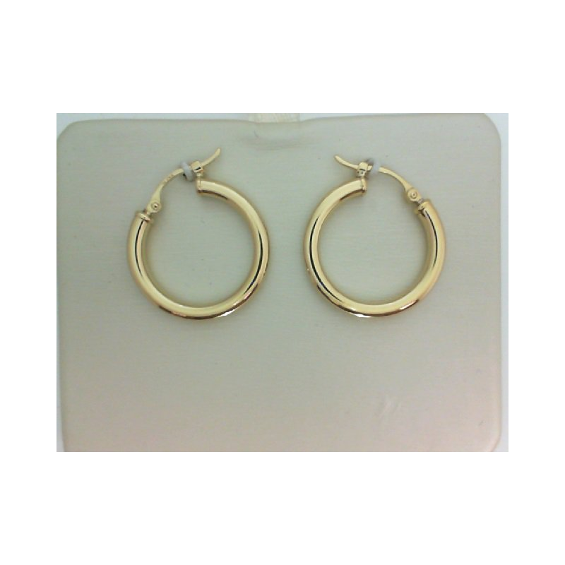 Yellow Gold Round Hoop Earrings