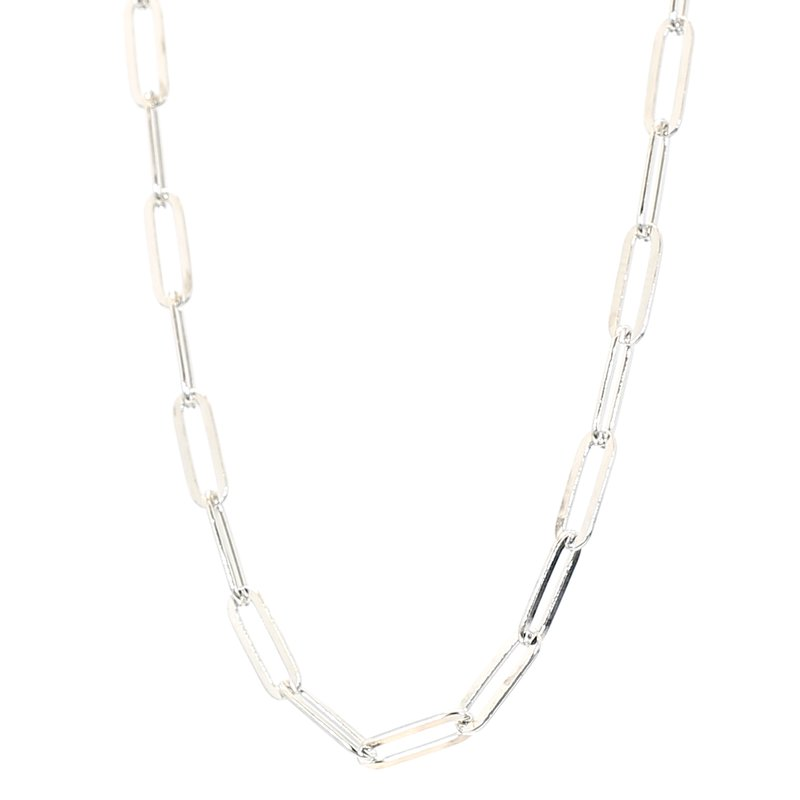 "Paper Clip Necklace 16-18"" 3.3mm Wide"