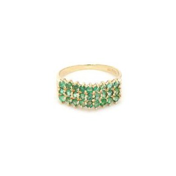 1/2ct Emerald Design Estate Ring