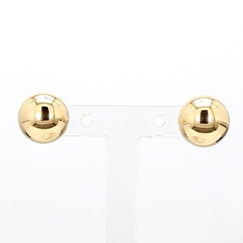 Yellow Gold 8mm Ball Earrings