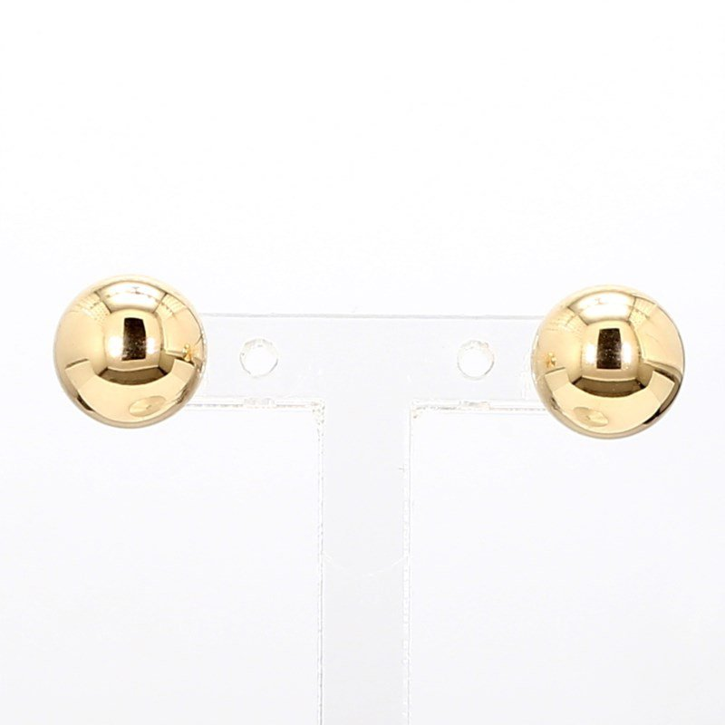 Yellow Gold 8mm Ball Earrings