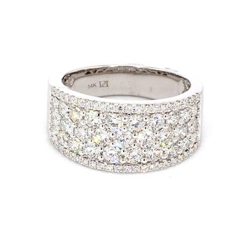 1.75 Ct. Tapered Pave Diamond Ring