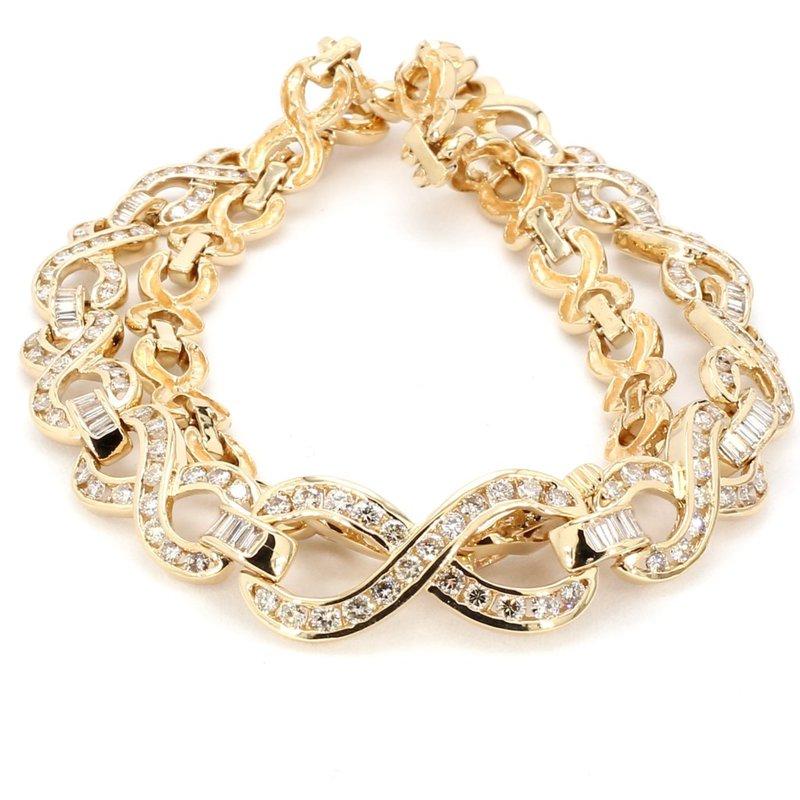 Infinity Diamond Necklace 3 Carats