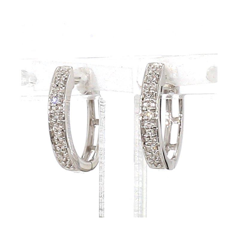 .04ct Diamond Hoop Earrings