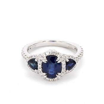 2.99 Carat Sapphire And Diamond Ring