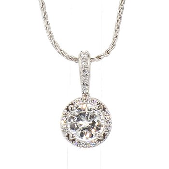 1/3 Carat Diamond Halo Necklace